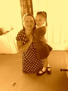 Author Becky Meechan and her lovely Sofia today