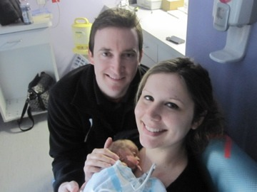 <em>Kasey and Andie in the NICU</em>