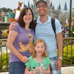 The family at DisneyWorld